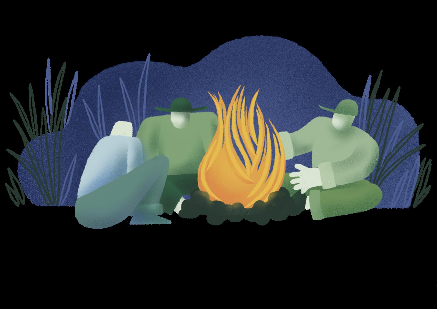 druženje ob ognju